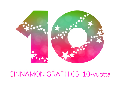 Cinnamon Graphics 10-vuotta